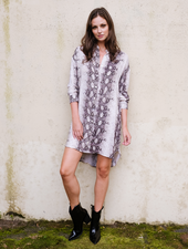 Mini Python Shirtdress