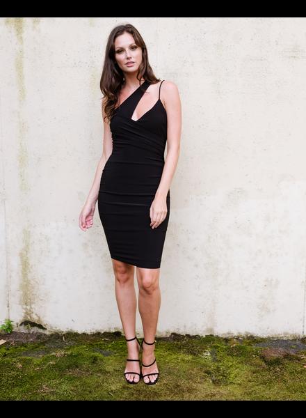 Dressy Unbalanced Black Dress