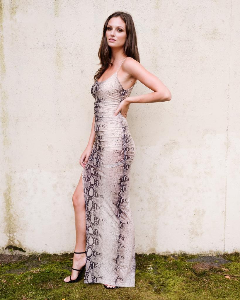 Midi Snake Slit Gown