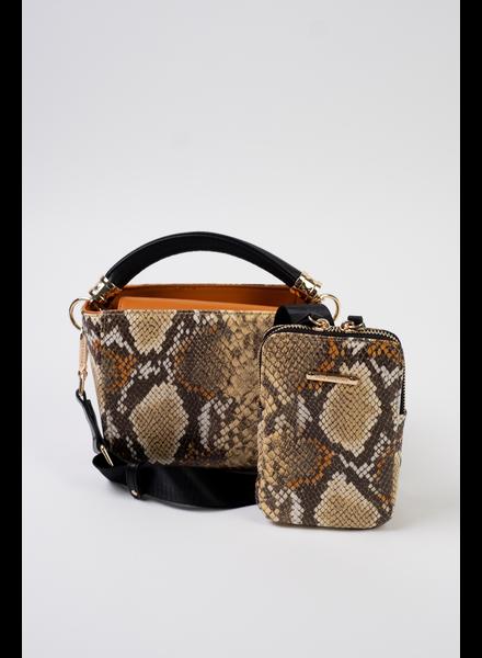 Handbag Mustard Snake Multi-way