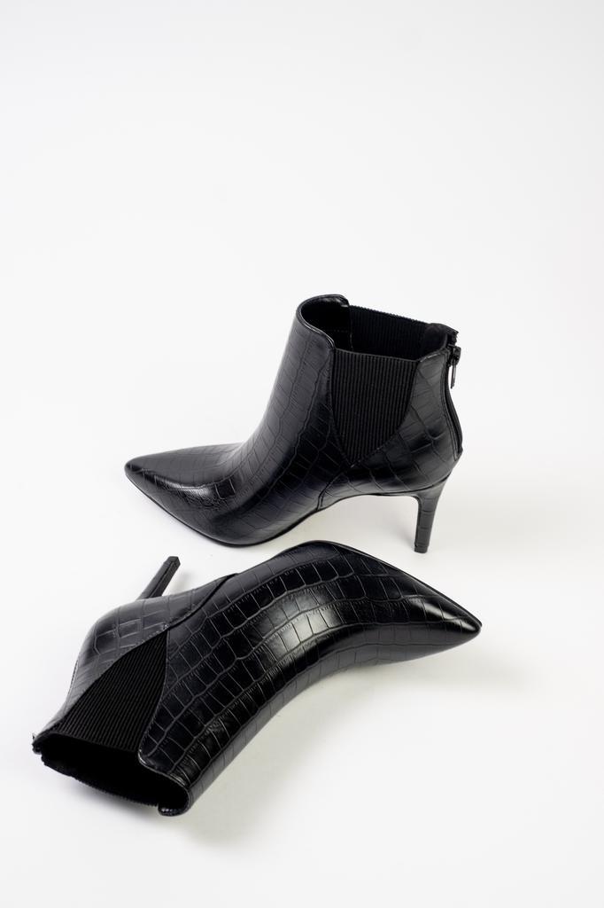 Bootie Black Croc Booties