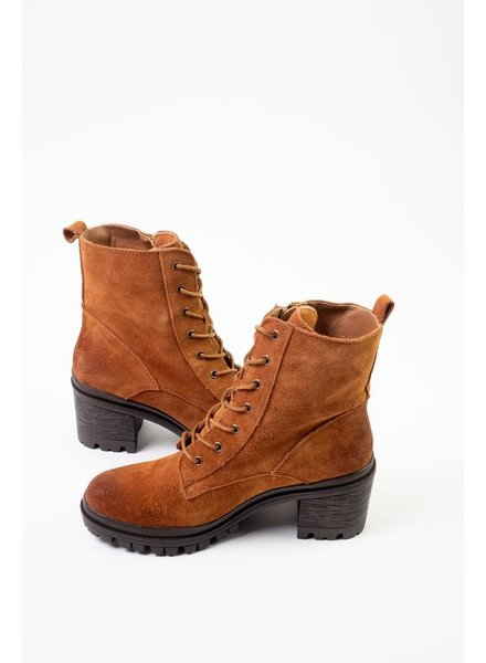 Boot Camel Suede Combat Boots