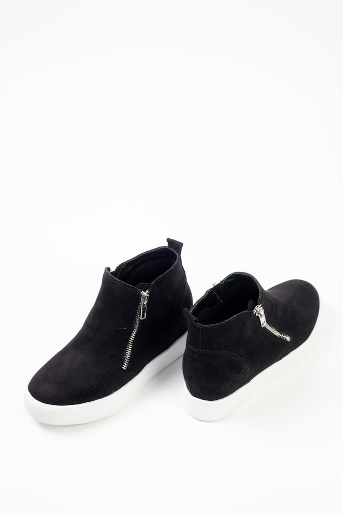 Flat Zippered Sneaker Wedge