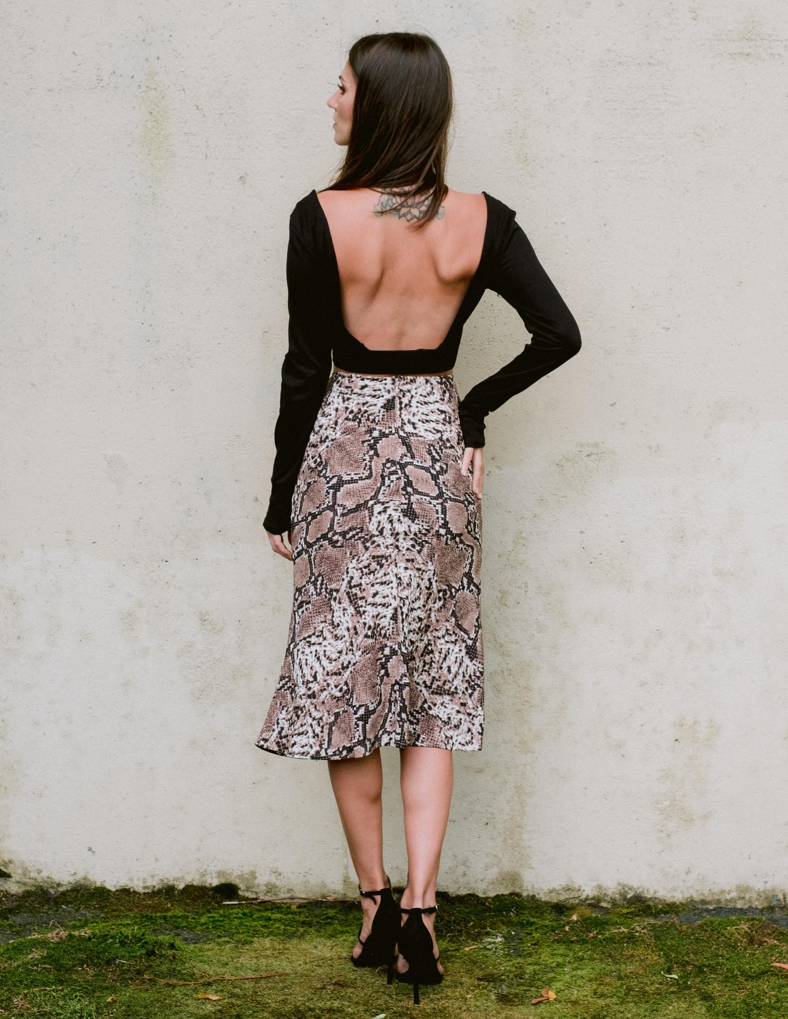 Skirt Slinky Snake Midi