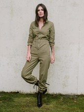 Casual Olive Utility Jumper