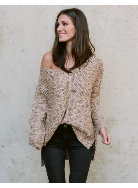 Sweater Rick Taupe Knit