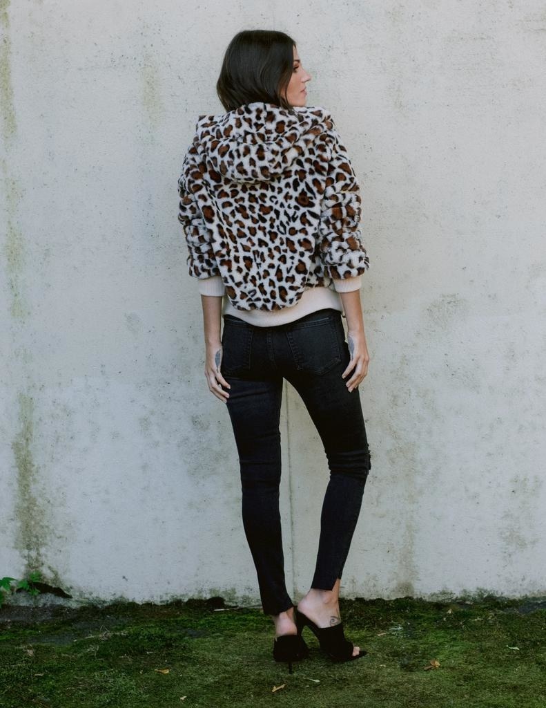 Winter Leopard Cuddle Me Jacket