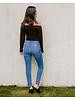 Jeans Hem Slit Skinny