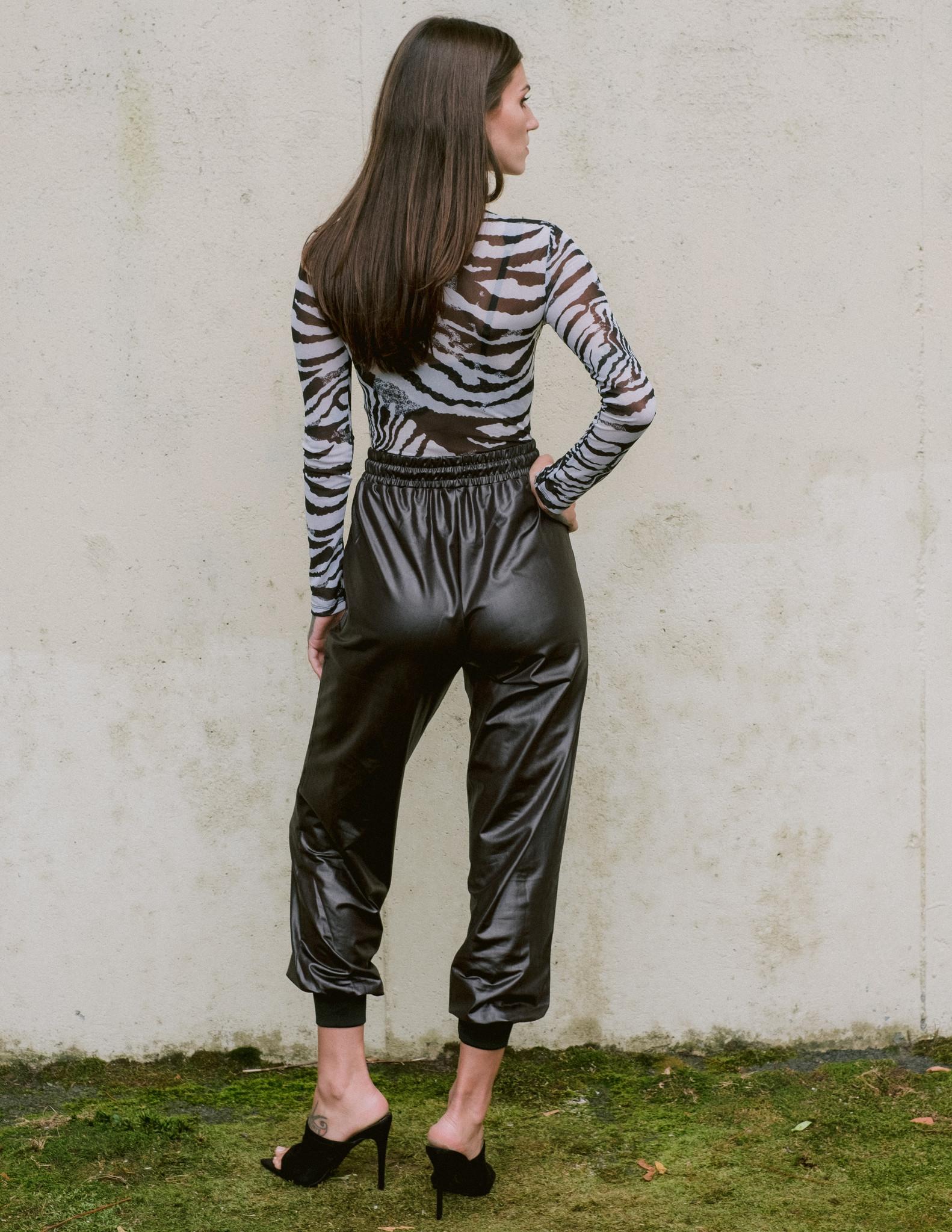 Bodysuit Zebra Mockneck Bodysuit