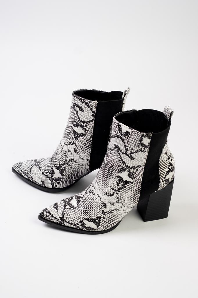 Bootie Slip On Snake Boot