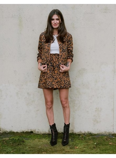 Skirt Leopard Paperbag Mini