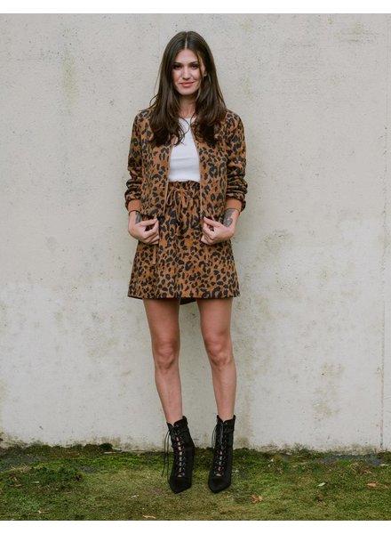 Skirt Leopard Paperbag Mini