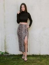 Skirt Leopard Midi Skirt