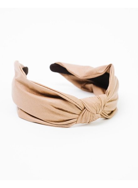 Headband Leather Knotted Headband