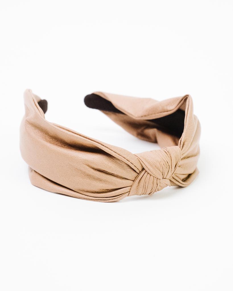 Headband Leather Knotted Headband