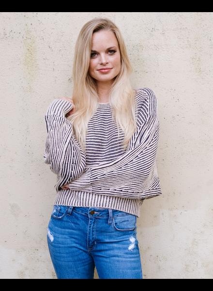 Sweater Contrast Dolman Sweater