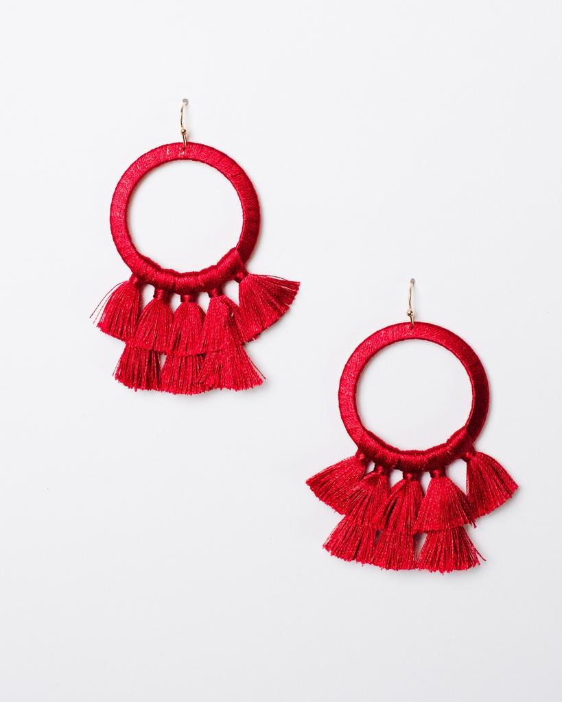 Trend Tassel Fan Earrings
