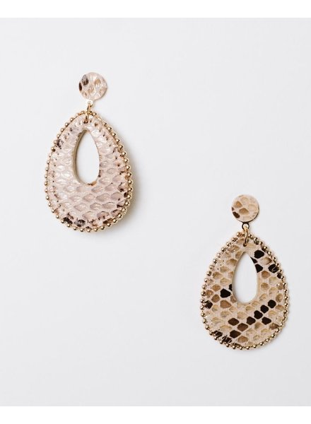 Trend Snake Oval Cutout Earrings