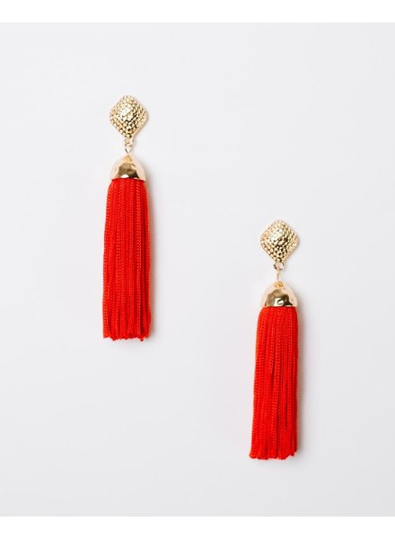 Trend Red Fringe Drops