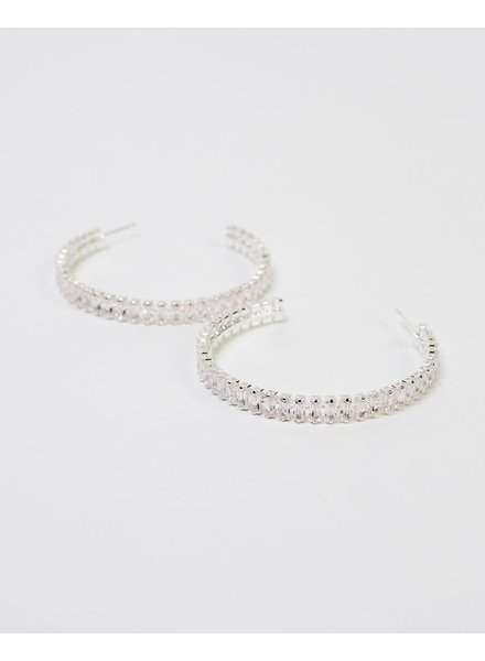 Dressy Elevated Silver Hoops