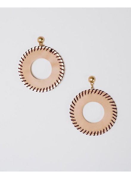 Trend Tan Leather Hoops