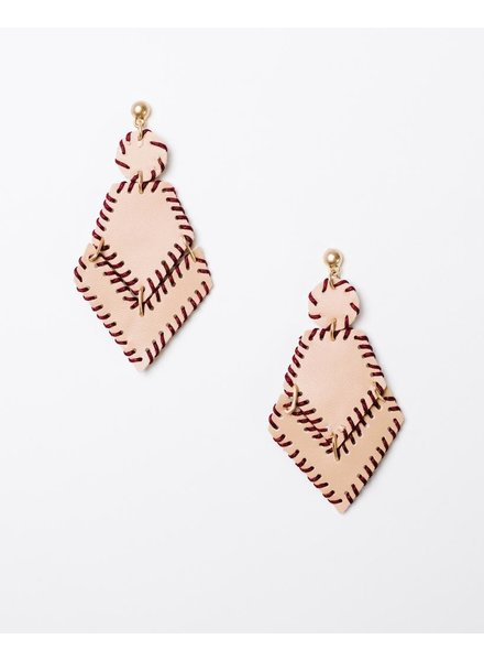 Trend Leather Arrowhead Earrings