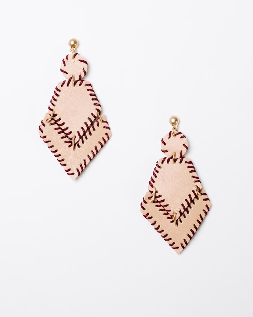 Trend Leather Arrowhead Earrings