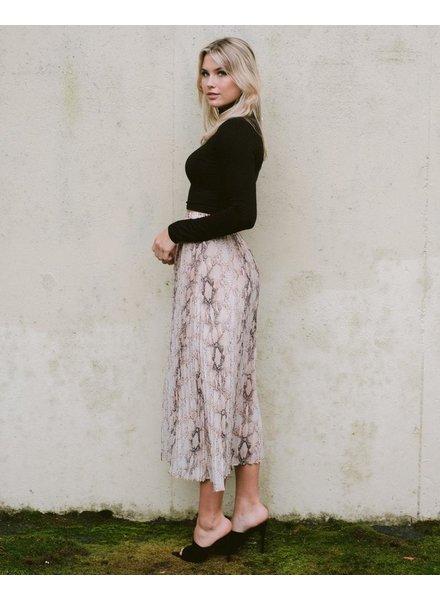 Skirt Pleated Snake Midi Skirt