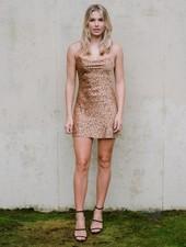 Mini Cheetah Cutout Dress