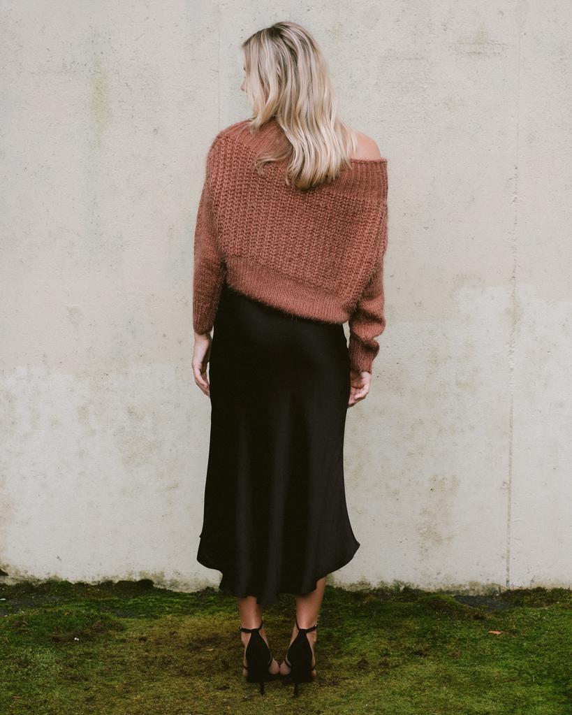 Skirt Hi-Low Silky Midi Skirt