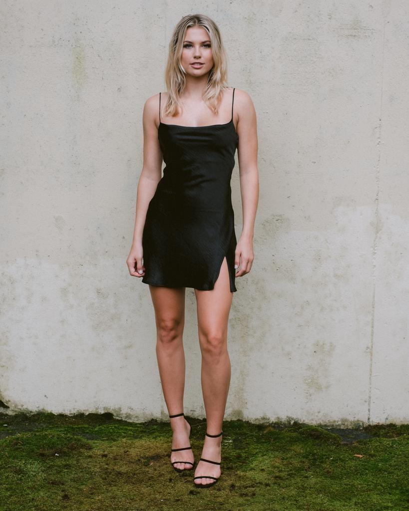 Mini Cowl Neck Mini Dress