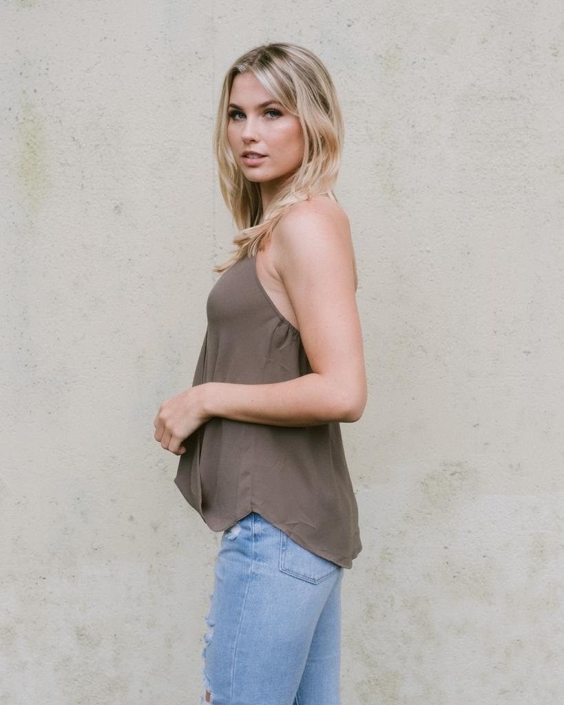 Tank Olive Cross Front Halter