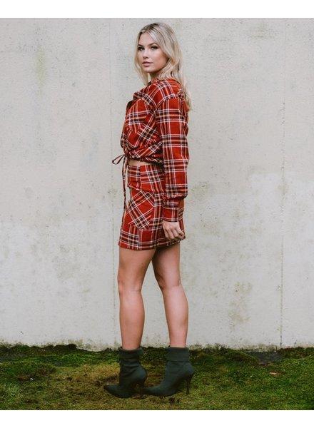 Skirt Plaid Pocketed Mini Skirt