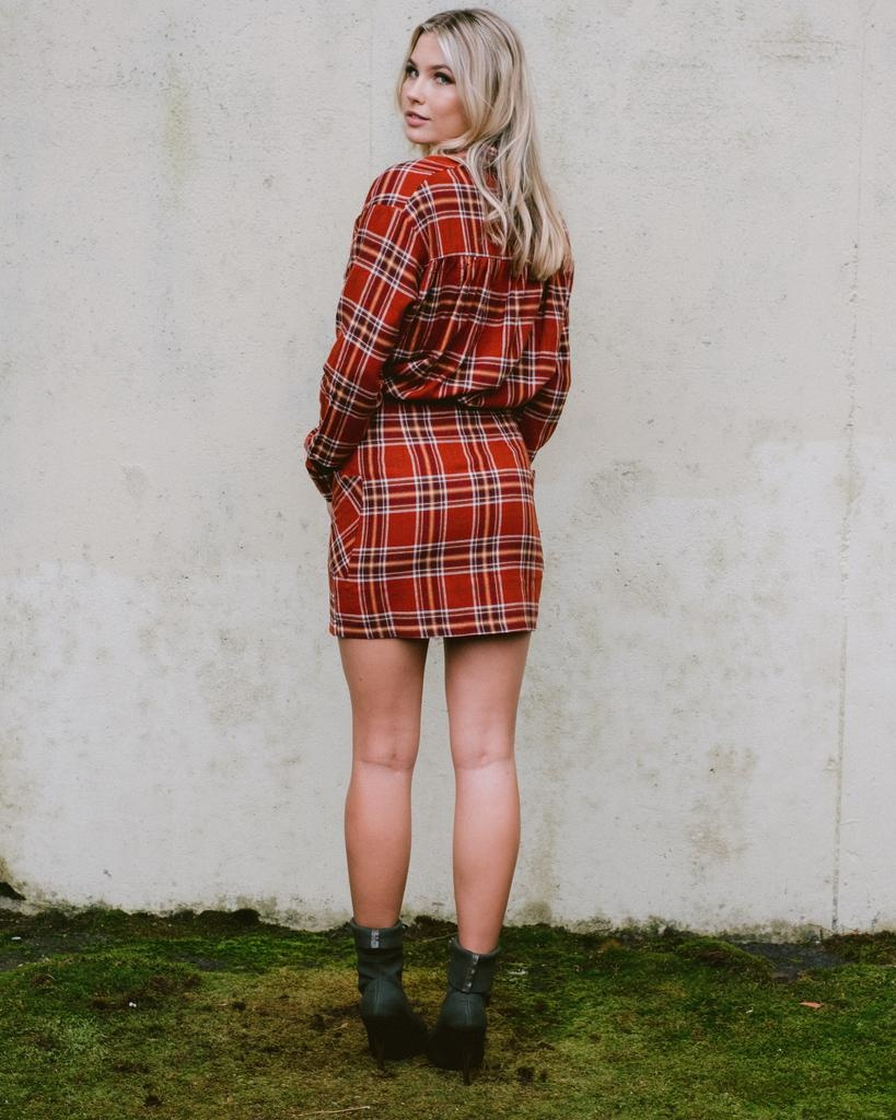 Skirt Plaid Pocketed Mini Skirt