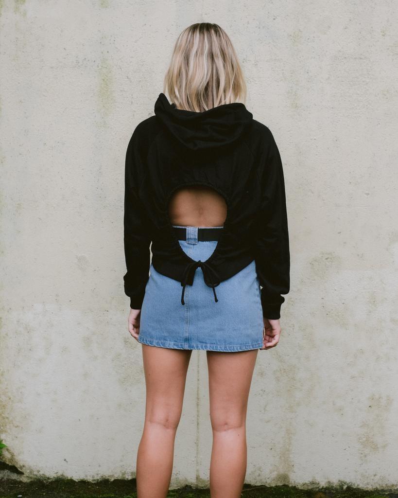 Sweatshirt Open Back Hoodie