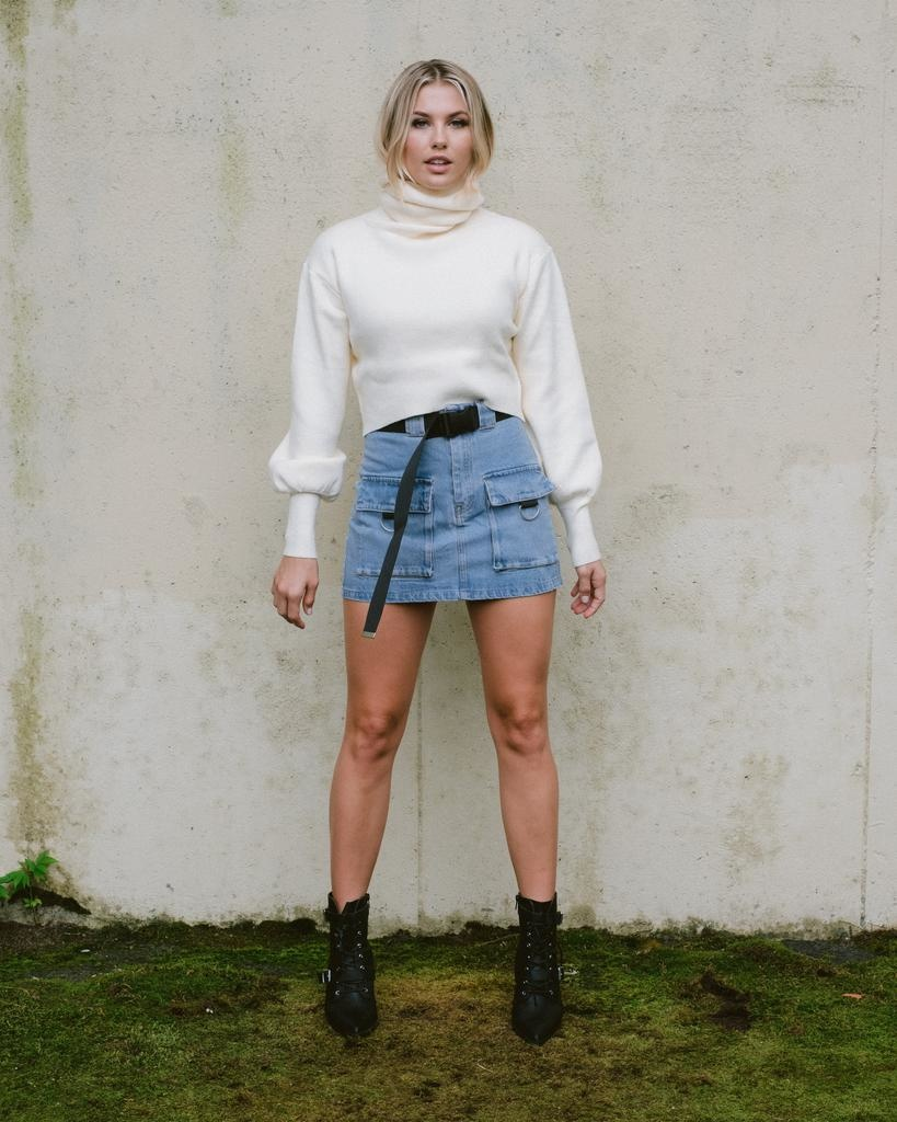 Skirt All Buckled Up Denim Skirt