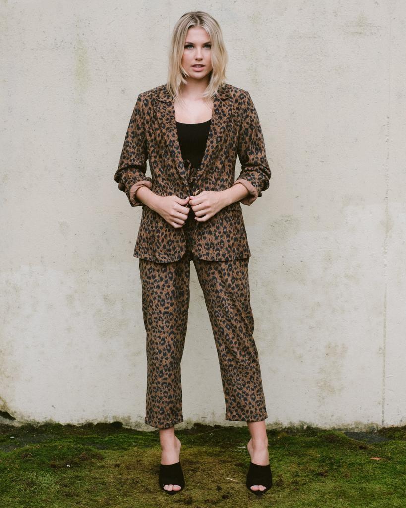 Pants Leopard Paperbag Pants