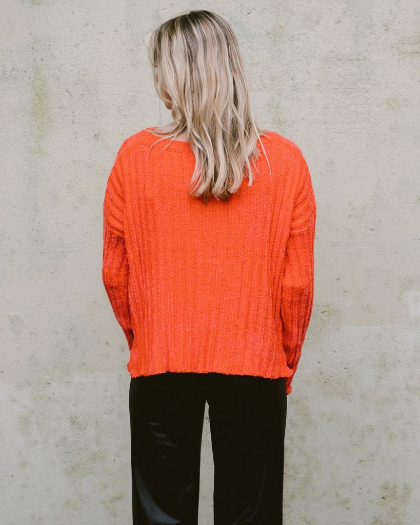Sweater Orange Crush Knit