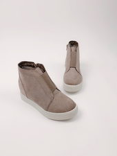 Flat Taupe Wedge Kicks