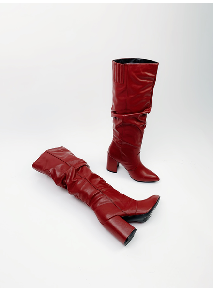 Boot Burgundy Slouch Boots