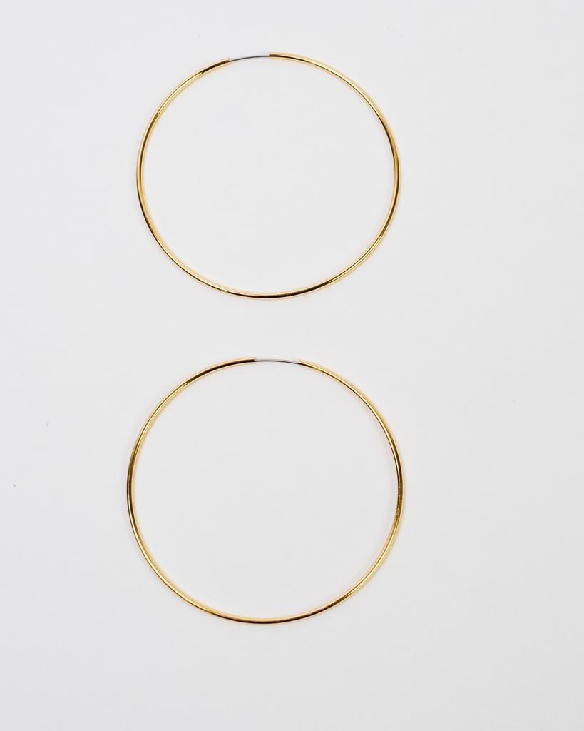 Gold Gold Interlocking Hoop