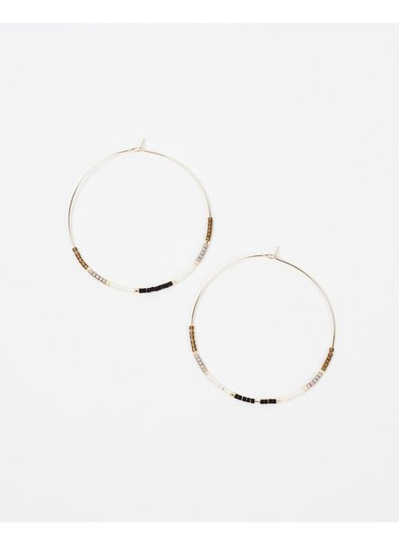 Gold Gold Beaded Hoops