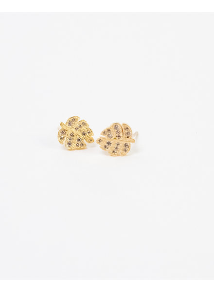 Gold Rhinestone Palm Stud