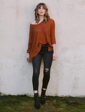 Sweater Rust Cuff Knit