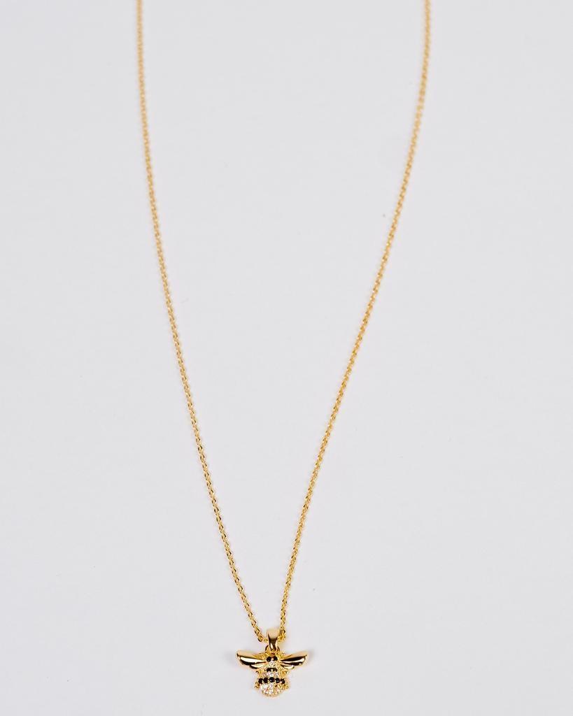 Gold Rhinestone Bee Necklace