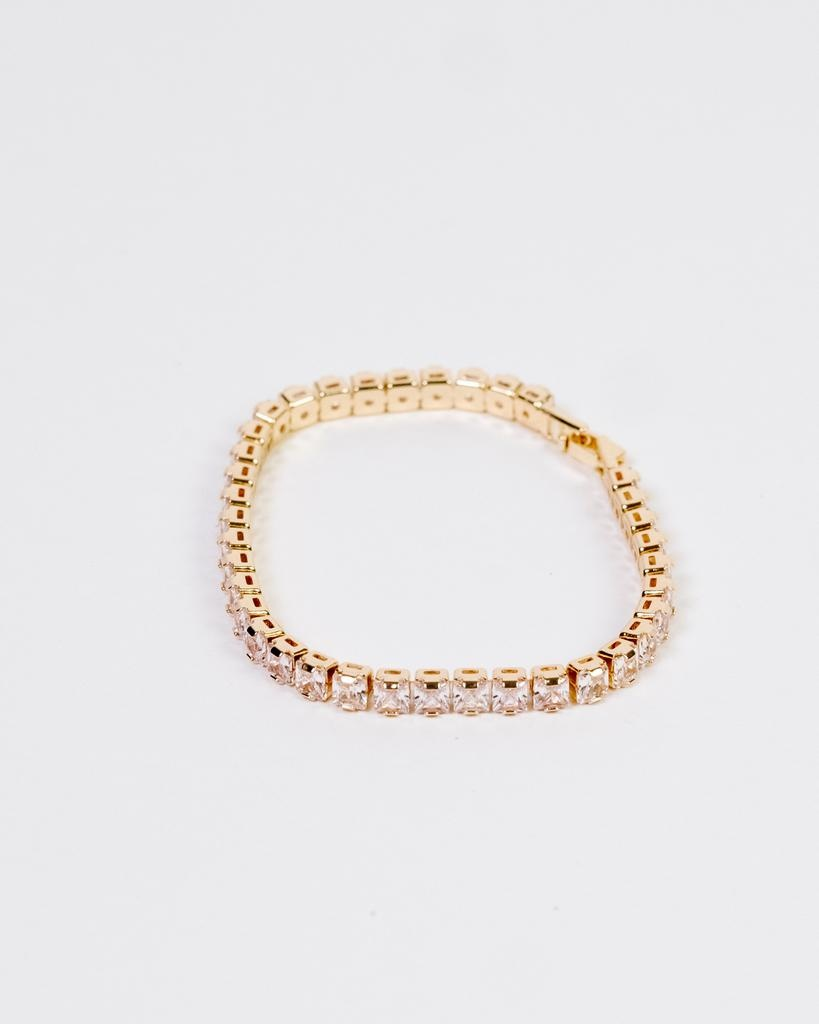 Gold Rhinestone Tennis Bracelet