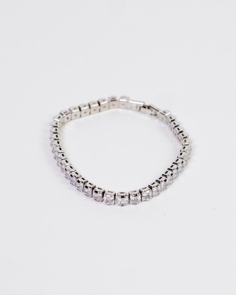 Silver Rhinestone Tennis Bracelet