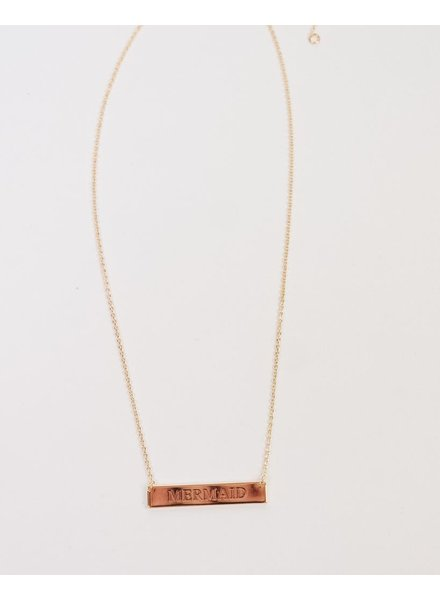 Gold Mermaid Bar Necklace