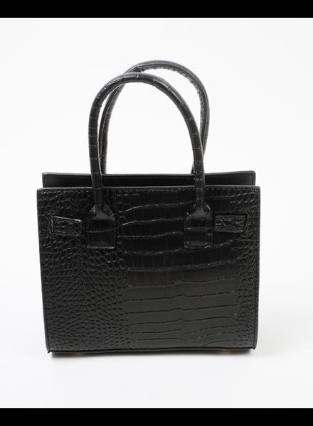 Handbag Black Crocodile Handbag