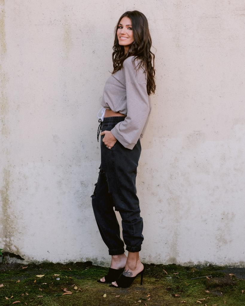 Pants Distressed Denim Joggers